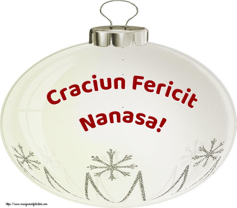 Felicitari frumoase de Craciun pentru Nasa | Craciun Fericit nanasa!