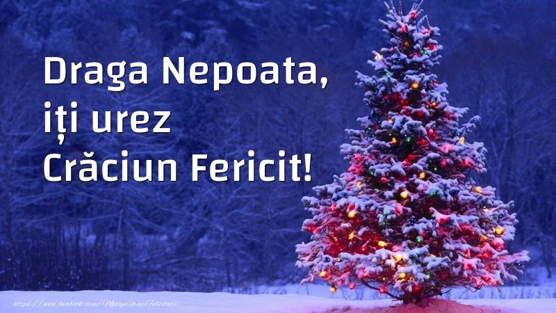 Felicitari frumoase de Craciun pentru Nepoata | Draga nepoata, iți urez Crăciun Fericit!
