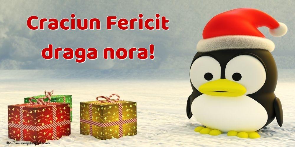 Felicitari frumoase de Craciun pentru Nora   Craciun Fericit draga nora!