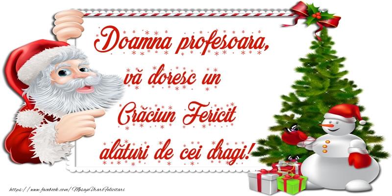 Felicitari frumoase de Craciun pentru Profesoara | Doamna profesoara, vă doresc un Crăciun Fericit alături de cei dragi!