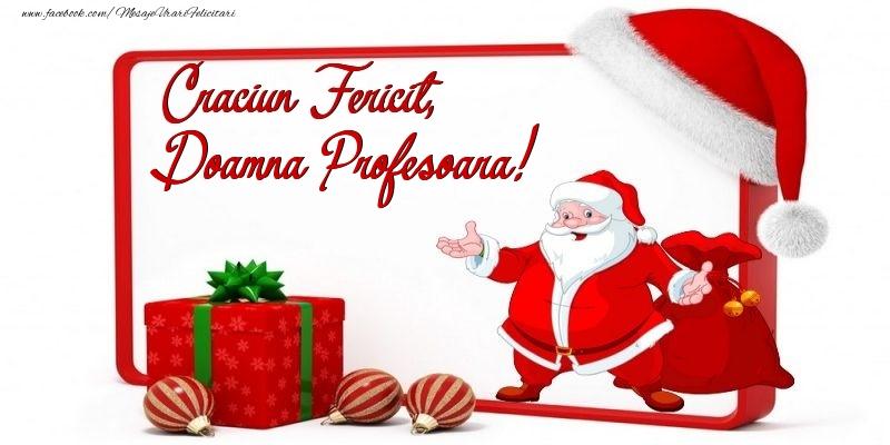 Felicitari frumoase de Craciun pentru Profesoara | Craciun Fericit, doamna profesoara