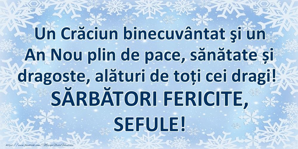 Felicitari frumoase de Craciun pentru Sef | Un Crăciun binecuvântat şi un An Nou plin de pace, sănătate și dragoste, alături de toți cei dragi! SĂRBĂTORI FERICITE, sefule!