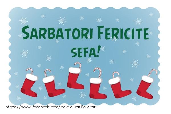 Felicitari frumoase de Craciun pentru Sefa | Sarbatori fericite sefa!