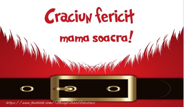 Felicitari frumoase de Craciun pentru Soacra | Craciun Fericit mama soacra!