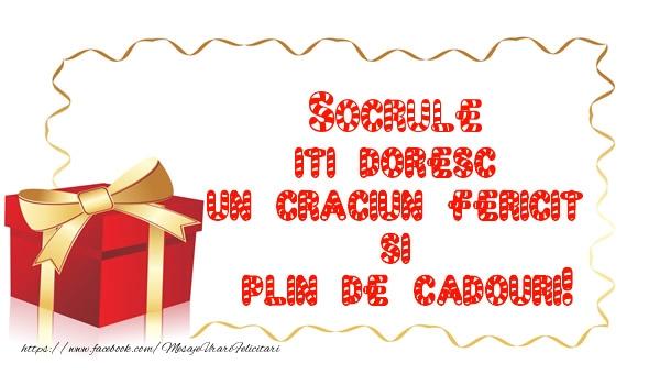 Felicitari frumoase de Craciun pentru Socru | Socrule iti doresc un Craciun Fericit  si  plin de cadouri!