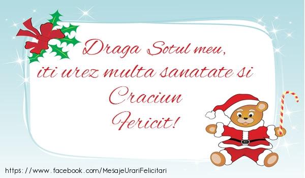 Felicitari frumoase de Craciun pentru Sot | Sotul meu iti urez multa sanatate si Craciun Fericit!