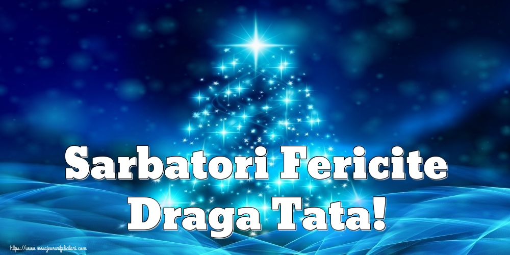 Felicitari frumoase de Craciun pentru Tata | Sarbatori Fericite draga tata!