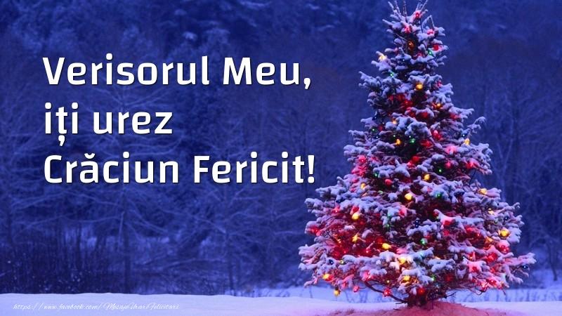 Felicitari frumoase de Craciun pentru Verisor | Verisorul meu, iți urez Crăciun Fericit!