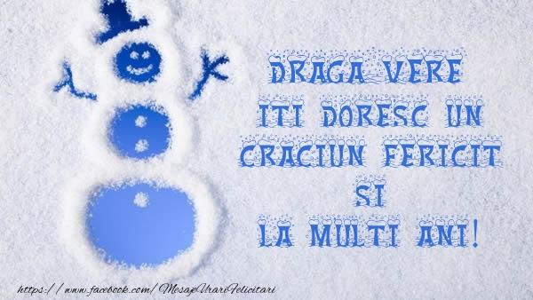 Felicitari frumoase de Craciun pentru Verisor | Draga vere iti doresc un Craciun Fericit si La multi ani!