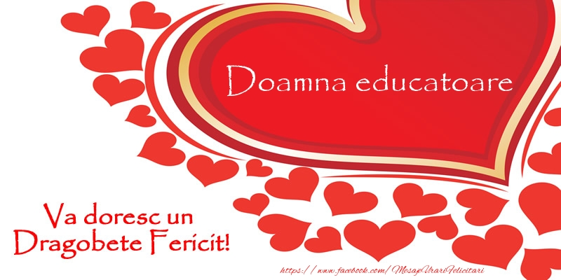 Felicitari frumoase de Dragobete pentru Educatoare | Doamna educatoare va doresc un Dragobete Fericit!