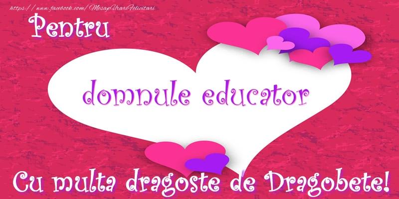 Felicitari frumoase de Dragobete pentru Educator | Pentru domnule educator Cu multa dragoste de Dragobete!