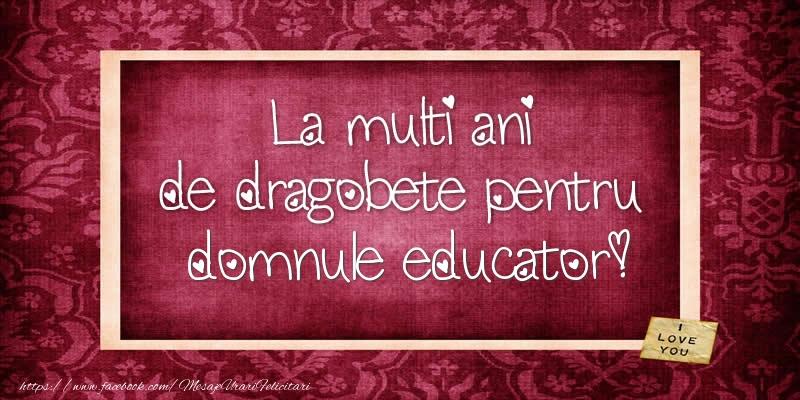 Felicitari frumoase de Dragobete pentru Educator | La multi ani de dragobete pentru domnule educator!