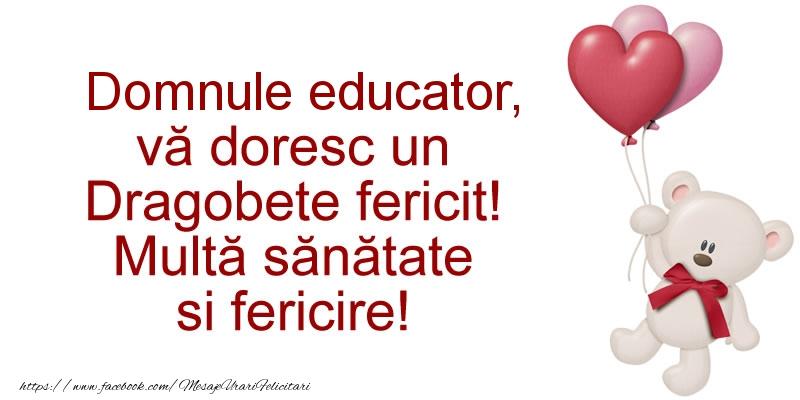 Felicitari frumoase de Dragobete pentru Educator | Domnule educator va doresc un Dragobete fericit! Multa sanatate si fericire!