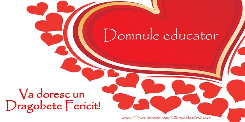 Felicitari frumoase de Dragobete pentru Educator | Domnule educator va doresc un Dragobete Fericit!
