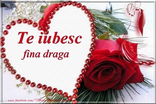 Felicitari frumoase de Dragobete pentru Fina | Te iubesc  fina draga
