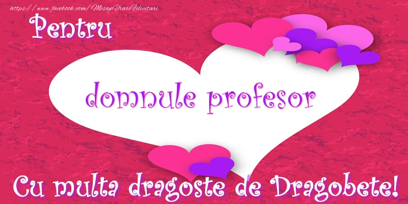 Felicitari frumoase de Dragobete pentru Profesor | Pentru domnule profesor Cu multa dragoste de Dragobete!