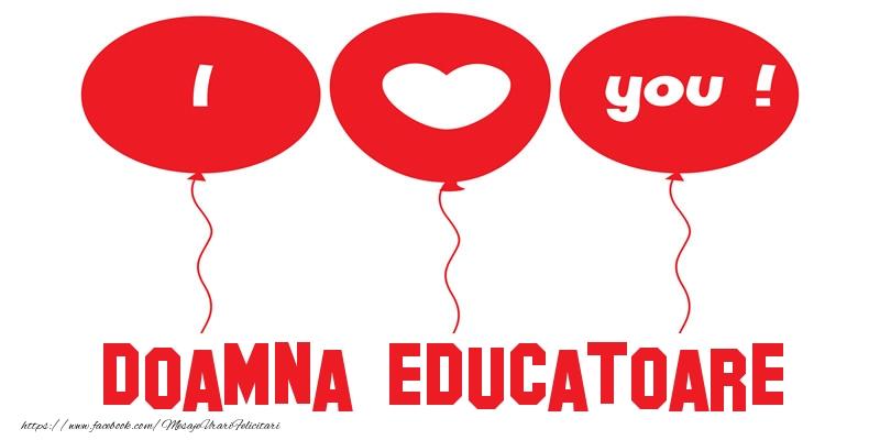 Felicitari frumoase de dragoste pentru Educatoare | I love you doamna educatoare!