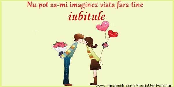 Felicitari frumoase de dragoste pentru Iubit | Nu pot sa-mi imaginez viata fara tine iubitule