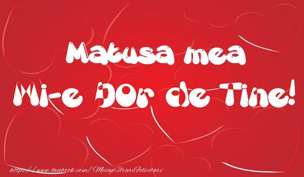 Felicitari frumoase de dragoste pentru Matusa | Matusa mea mi-e dor de tine!