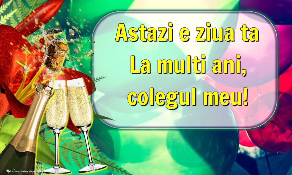 Felicitari frumoase de la multi ani pentru Coleg | Astazi e ziua ta La multi ani, colegul meu!