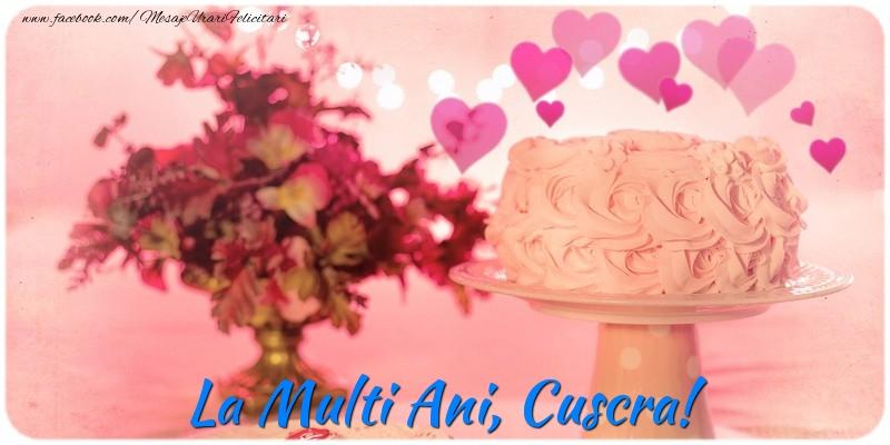 Felicitari frumoase de la multi ani pentru Cuscra | La multi ani, cuscra!