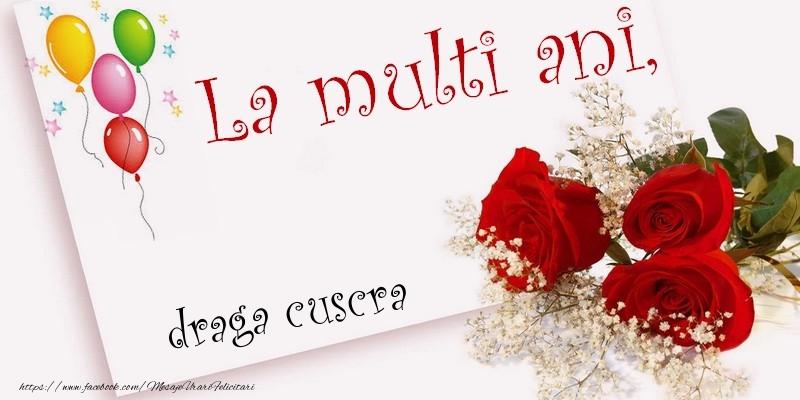Felicitari frumoase de la multi ani pentru Cuscra   La multi ani, draga cuscra
