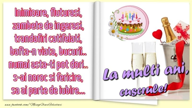 Felicitari frumoase de la multi ani pentru Cuscru | Inimioare, fluturasi, zambete de ingerasi, trandafiri catifelati, bafta-n viata, bucurii.. numai asta-ti pot dori.. s-ai noroc si fericire, sa ai parte de iubire...La multi ani, cuscrule!