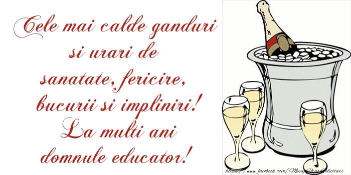 Felicitari frumoase de la multi ani pentru Educator | Cele mai calde ganduri si urari de sanatate, fericire, bucurii si impliniri! La multi ani domnule educator!
