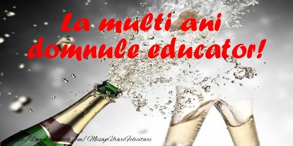 Felicitari frumoase de la multi ani pentru Educator | La multi ani domnule educator!