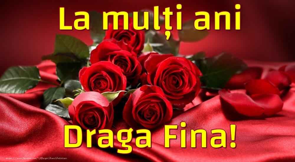 Felicitari frumoase de la multi ani pentru Fina | La mulți ani draga fina!
