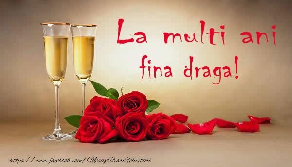 Felicitari frumoase de la multi ani pentru Fina | La multi ani fina draga!