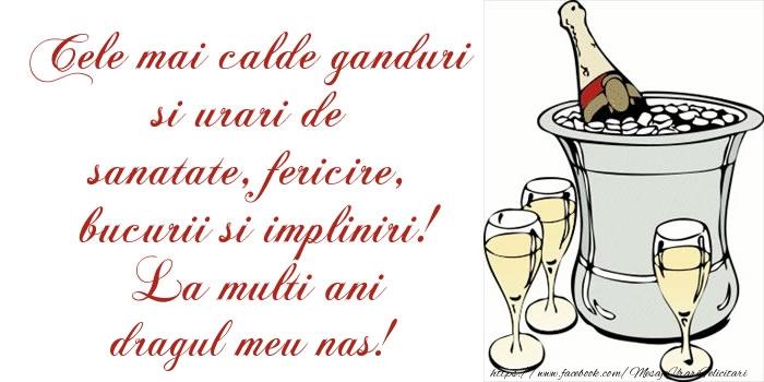 Felicitari frumoase de la multi ani pentru Nas | Cele mai calde ganduri si urari de sanatate, fericire, bucurii si impliniri! La multi ani dragul meu nas!