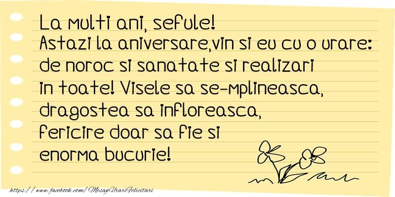 Felicitari frumoase de la multi ani pentru Sef | La multi ani sefule!