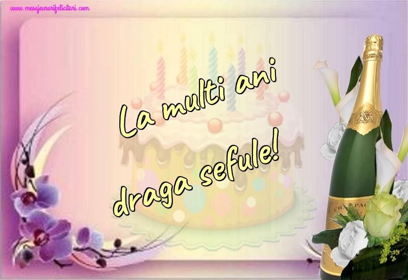 Felicitari frumoase de la multi ani pentru Sef   La multi ani draga sefule!
