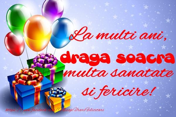 Felicitari frumoase de la multi ani pentru Soacra | La multi ani, draga soacra multa sanatate si fericire!