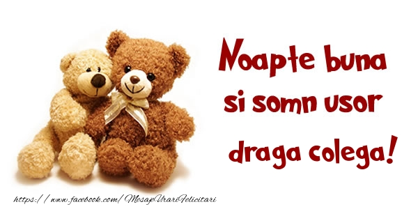 Felicitari frumoase de noapte buna pentru Colega | Noapte buna si Somn usor draga colega!