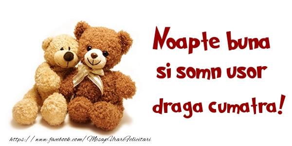 Felicitari frumoase de noapte buna pentru Cumatra | Noapte buna si Somn usor draga cumatra!