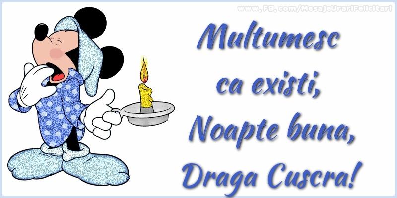 Felicitari frumoase de noapte buna pentru Cuscra | Multumesc ca existi, Noapte buna, draga cuscra