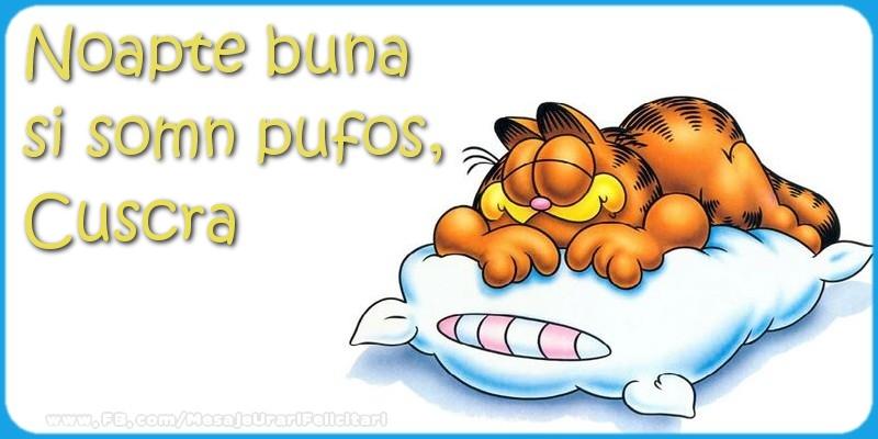 Felicitari frumoase de noapte buna pentru Cuscra | Noapte buna  si somn pufos,cuscra