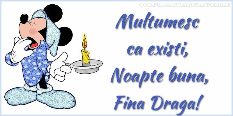 Felicitari frumoase de noapte buna pentru Fina | Multumesc ca existi, Noapte buna, fina draga