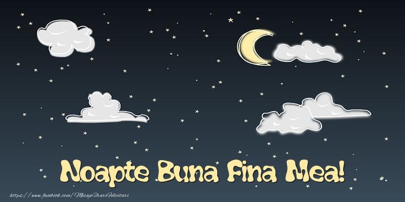 Felicitari frumoase de noapte buna pentru Fina | Noapte Buna fina mea!