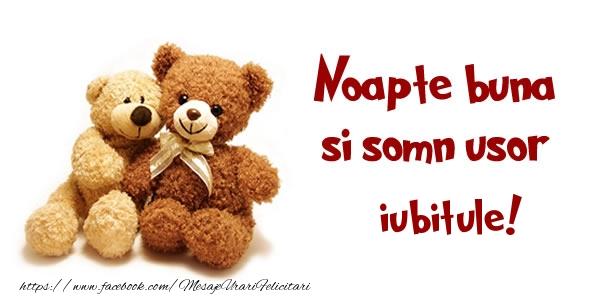 Felicitari frumoase de noapte buna pentru Iubit | Noapte buna si Somn usor iubitule!