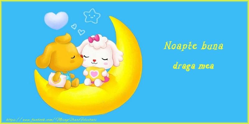 Felicitari frumoase de noapte buna pentru Iubita | Noapte buna draga mea