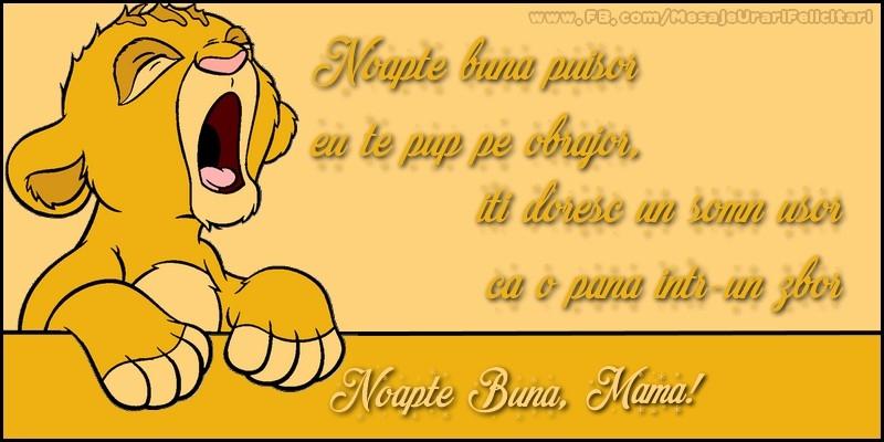 Felicitari frumoase de noapte buna pentru Mama | Noapte buna, mama!