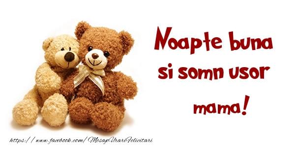 Felicitari frumoase de noapte buna pentru Mama | Noapte buna si Somn usor mama!