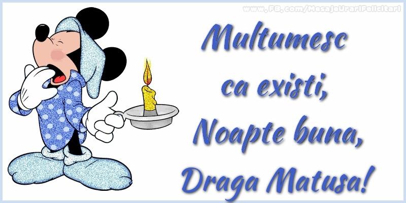 Felicitari frumoase de noapte buna pentru Matusa | Multumesc ca existi, Noapte buna, draga matusa
