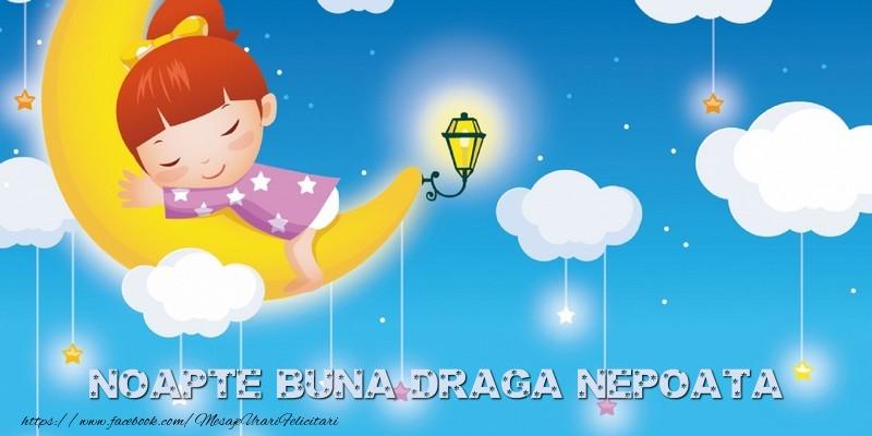 Felicitari frumoase de noapte buna pentru Nepoata | Noapte buna draga nepoata