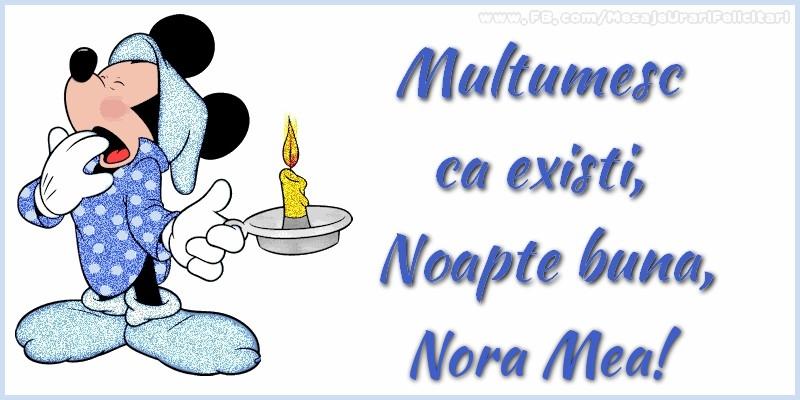 Felicitari frumoase de noapte buna pentru Nora | Multumesc ca existi, Noapte buna, nora mea