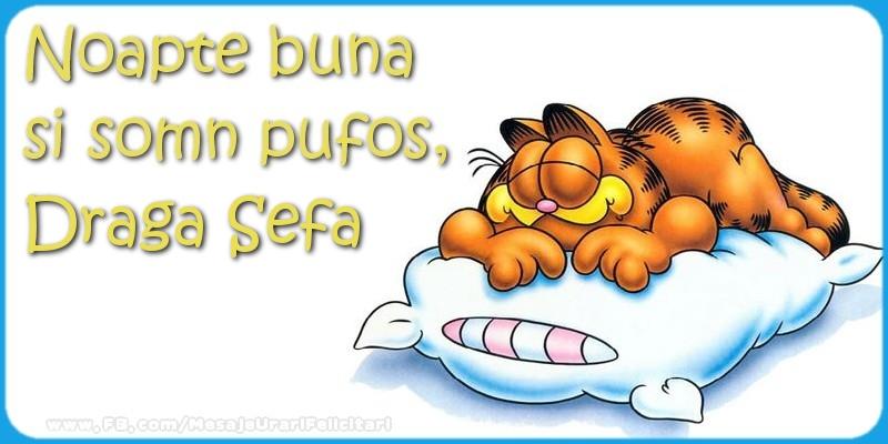 Felicitari frumoase de noapte buna pentru Sefa | Noapte buna  si somn pufos,draga sefa