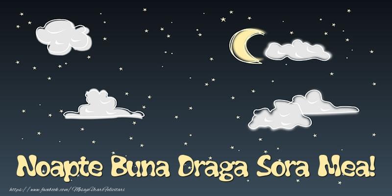 Felicitari frumoase de noapte buna pentru Sora | Noapte Buna draga sora mea!